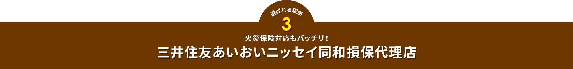 選ばれる理由3三井住友あいおいニッセイ同和損保代理店