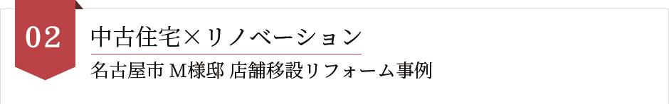 中古住宅×リノベーション名古屋市 M様邸 店舗移設リフォーム事例