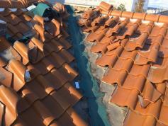 屋根工事 施工中
