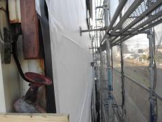 外壁塗装 施工中