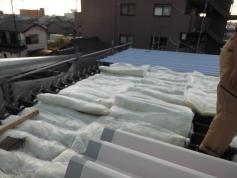 屋根塗装 施工中