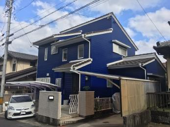 鮮やかなブルーにカラーチェンジ♪無機塗料で耐久性も期待できます!!