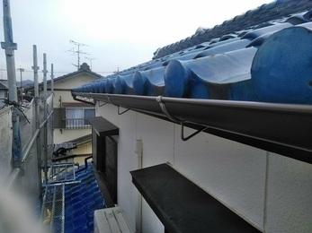 火災保険を使い雨樋を直すことができた。