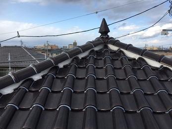 屋根の工事をして、台風などで瓦などがとぶ心配がなくなり 気になっていた事が解決できた。