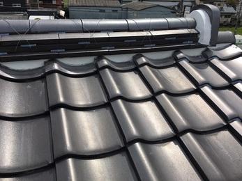 漆喰の破損箇所も全て綺麗になり屋根の瓦ズレも以前と比べて無くなった